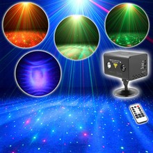Remote Water Galaxy Effect Full RG Stage Laser Light Color RGB LED Light Fiesta Stage Party illumination Meteor Shower LL-100RG(China)