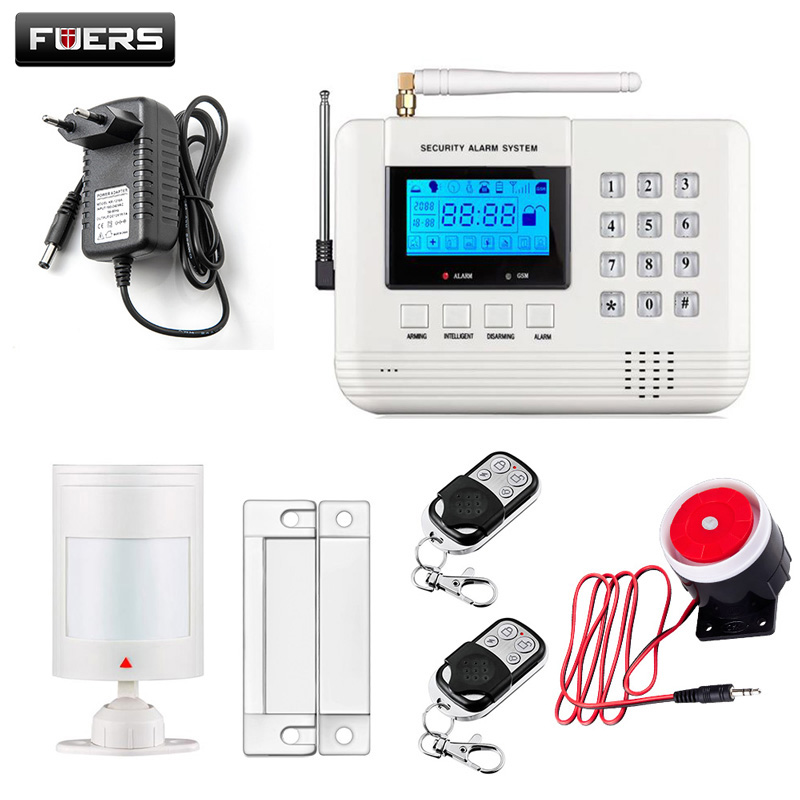 Dual-Network GSM PSTN Alarm System English/Russian/Spanish voice Stable reliable Wireless&amp;wired Home Security Alarm System<br>
