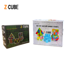 ZCUBE 5pcs/box Colorful Stickerless / Carbon Fiber Magic Cube Set 3x3x3 Speed Puzzle Pyraminx Megaminx Axis Mirror Cube Toy -48(China)