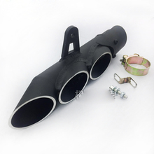 3 holes and 2 holes options ID:51MM motorcycle exhaust Muffler Moto Escape Length 100cc to 1000cc R6 ZX6R ZX10R CBR1000(China)