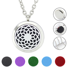 With Chain as Gift! Wholesale 20mm,25mm,30mm Magnetic 316L Stainles Steel Aromatherapy Diffuser Locket Necklace Jewelry