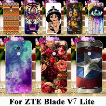 Painted Soft TPU Silicone Phone Cases For ZTE Blade V7 Lite A2 5.0 inch Cases Shell Covers Gel Phone Housing Skin Bags