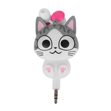 3.5mm Cute Cartoon Cat/Panda 3.5mm Wired Retractable In-Ear Earphones Headset MP3 Headphone handsfree Earbuds
