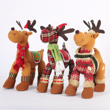 Creative Cloth Christmas Reindeer Elf On The Shelf,Christmas Crafts Children Christmas Gifts,Lovely Xmas Decorations Ornanments(China)