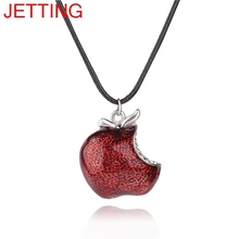 JETTING Bite Red Poison Apple Pendants Necklace Once Upon a Time Necklace Regina Mills Necklace Collar Women Accessories Gifts