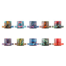 Honwo New Epoxy Resin Drip Tips E cigarette Mouthpiece for Cleito 120 Electronic Cigarette Atomizers 10pcs Wholesale Mix Colors(China)