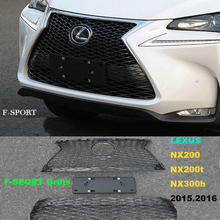 Car Grille Modification Racing Grills For LEXUS NX200 NX200t NX300h 2015.2016 High Quality Brand New F-SPORT Grid(China)
