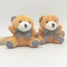 6cm x24pcs Tiny Lovely Plush Teddy Bear with bow tie Stuffed Soft Toys doll kids Gift #Brown(China)