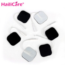 50pcs 4x4cm Tens Electrode Pads with 2mm Connector for Slimming Massage Digital Therapy Massager Machine (50pcs=25pairs)(China)