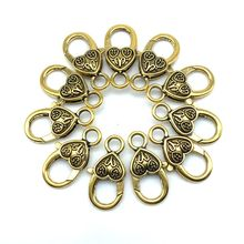 3 Colors New Metal Lobster Clasp Findings 14x27 mm Silver Gold Antique Gold For Necklaces Bracelets Making Wholesale Parts