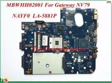 Wholesale And High Quality Motherboard MBWHH02001 For Gateway NV79 Laptop Motherboard NAYF0 LA-5881P PGA989 DDR3 100% Tested