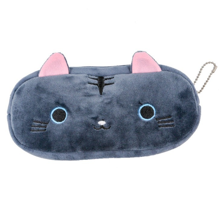 Plush Pencil Case School Supplies For Girls Stationery Office Cute Kawaii Cartoon Cat Pen Bag pouch kits Kids Gift Makeup bag (8)