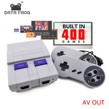 Data Frog Retro Mini Family TV Video Game Console 8 Bit TV Game Consoles Built In 400 Classic Games Support PAL & NTSC(China)