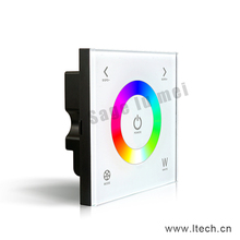 D4 Touch Led RGBW Controller DC12-24V 4A*3CH Output Glass Touchable Wall Mount RGBW Led Full Color Controller panel dimmer