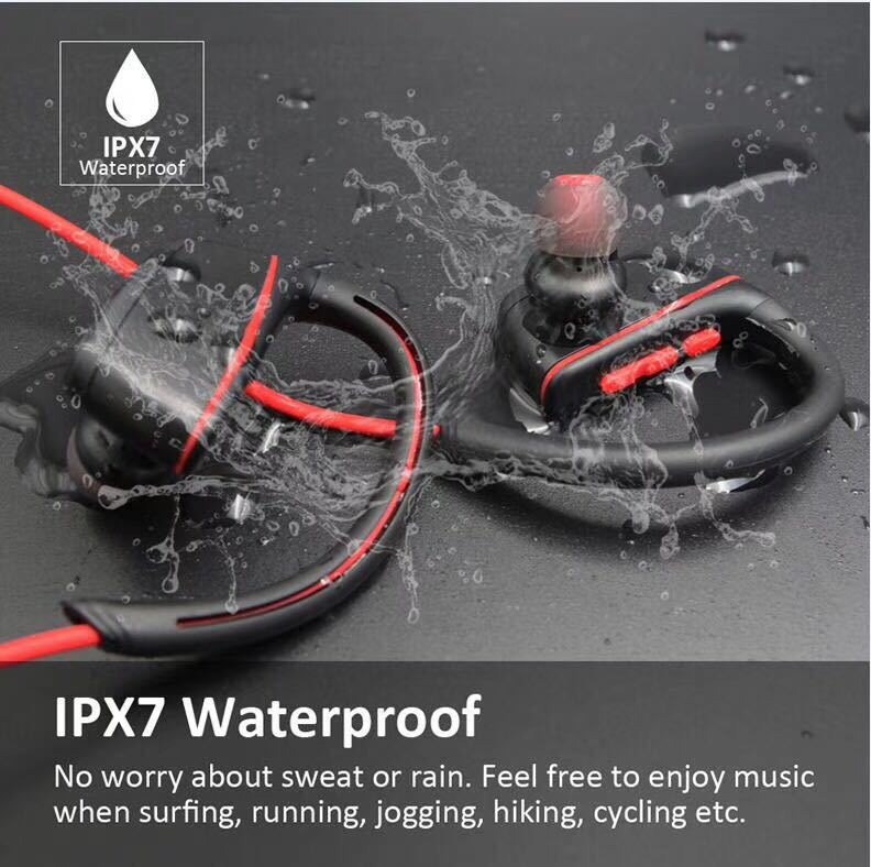Waterproof Bluetooth Earphones for Swimming Ipx8 Headphones with Microphone Stereo Bass Sport Running Earphone for swiming