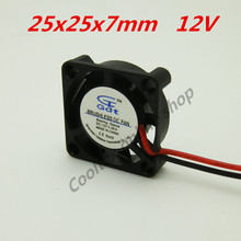 20pcs/lot  25x25x7mm  2507 mini fan 12 Volt  Brushless DC Fans cooler cooling  radiator Chipset Heatsink