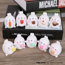 Lovely Cute Molang Rabbit PVC Figure Model Toys Dolls Pendants Kids Toys Gifrs Gifts 5cm 5pcs/set 2 Styles OTFG194