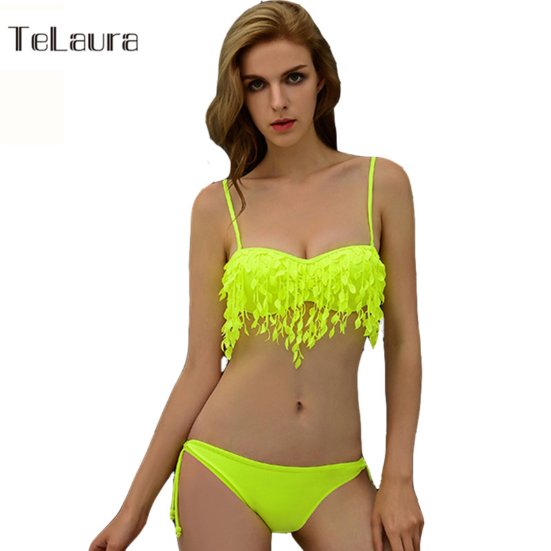 Brazilian Bikini Tassel Swimwear Push Up Bikini Brand Women Bikini Set Ladies Sexy Fringe Swimsuit Women Maillot De Bain Female<br><br>Aliexpress
