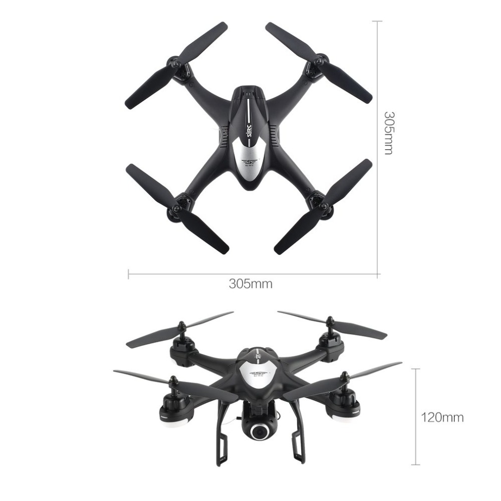 SJ R/C S30W 2.4G Dual GPS Positioning FPV RC Quadcopter Drone with 7P Adjustable Wide Angle Wifi Camera Follow Me Hovering 24