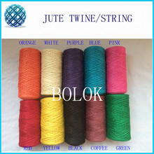 20pcs/lot Twisted Rope  Fiber Jute Twine(2ply 1.5mm,100m/piece) Rope Cord String Craft DIY Gift 10 Colors to choose
