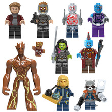 Guardians of the Galaxy Groot Baby Ronan Rocket Raccoon Star Lord Drax Nebula Mini Action Figure Building Blocks Toy For kid