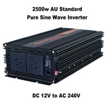 AU NZ plug 2500W pure sine wave solar power inverter DC 12V to AC 240V with remote controller off grid inverter