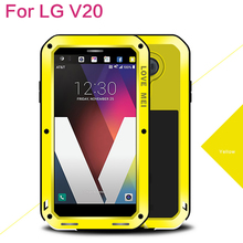 For LG V20 Powerful phone case Original LOVE MEI Extreme Powerful life Metal Case For LG V20 Snowproof Dropproof with gift box(China)