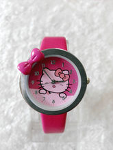 Free Shipping fashion Leather Band Quartz Watch Children Crystal Hello Kitty Watch GRQ601(China)