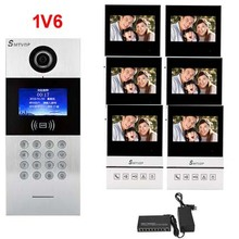 "SMTVDP New TCP/IP HD digital video intercom doorbell 4.3"" screen, residential intelligent electronic access control system 1V6(China)"