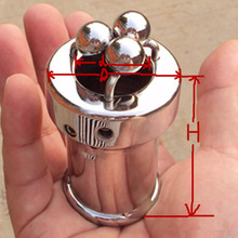 Buy High Quality Stainless Steel Male Chastity Device Scrotum Pendant Chastity Lock Penis Cage Cock Ring Toys Penis Ring Men