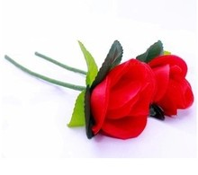 Free shipping 5pcs high quality red rose folding Rose/appearing rose/magic tricks/magic sets/magic props