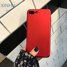 XINHU for iPhone X case PRODUCT RED matte phone case Metal red black TPU case for apple iPhone 6s 6 6plus 7 7plus 8 8PLUS cover(China)