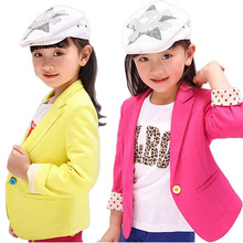 2017 New Spring & Autumn Kids Suits Jacket for Girls Children Brand Coat Trench Girl Blazers Kids Clothing 2 Colors