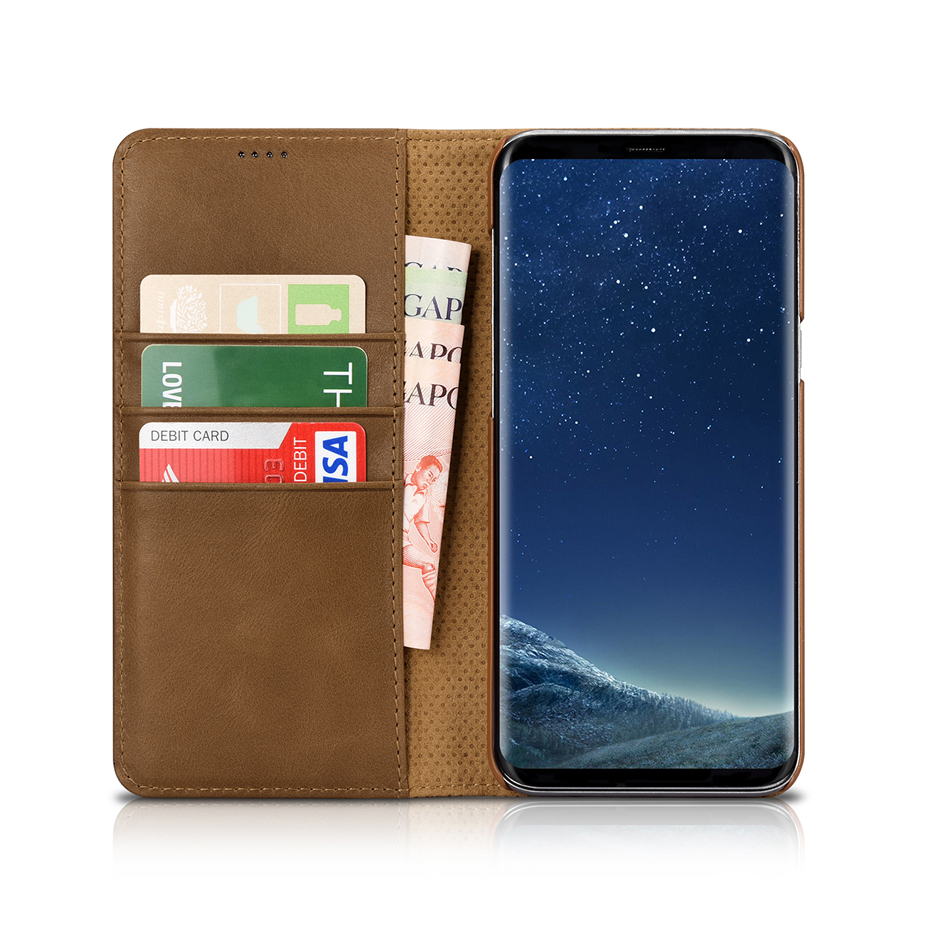 For Samsung Galaxy S8 S8 Plus Luxury Genuine Leather Magnetic Flip Wallet Case (11)