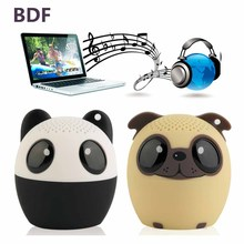 BDF Bluetooth Wireless Cute Animal panda dog Sound Speaker Portable Clear Voice Audio Player VTB-BM6 TF Card USB Ifor Mobile PC