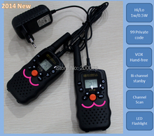 VT8 new design 1W power long range portable radio walkie talkie pair kids children CB radios HF transceiver +charger earphones