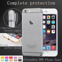 50pcs/lot Complete protection Ultra thin TPU Clear Case for iphone 6 6s Plus SOFT case cover For iphone6 4.7 /5.5'' back cover(China)