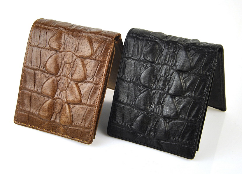 Genuine Python Snake Skin Leather Natural Window Bifold Snap Coin Wallet ID Card