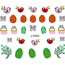 MAKARTT 100 Sheets Cute Easter Decals Glitter Water Decal Nail Art Nail Stickers Rabbit Easter Aster Egg Chicks B8029X