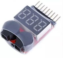 1-8S Lipo/Li-ion/Fe RC helicopter airplane boat etc Battery Voltage 2 IN1 Tester Low Voltage Buzzer Alarm(China)