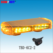 TBD-6C2-2 High quality Yellow LED mini lightbar,amber emergency light,Car Flashing warning light,cigar light switch 17 flash(China)