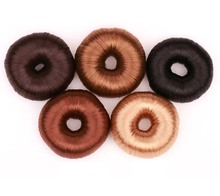 Stylish Fashion Blond Doughnut Wig Hair Band Hairpiece hair bun maker(China)
