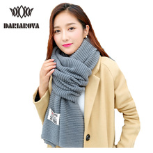 [DARIAROVA]Women Fashion Winter Scarf Wool Knitted Scarves Shawls Women Thick Warmer Cowl Neck Scarf Men Knitting Scarfs Stoles(China)
