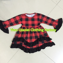 Red plaid winter cotton dress Samll inventory HIGH QUALITY CLOTHING DRESS(China)