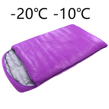 2 people sleeping bag lunch break adult ultra-light spring and summer summer down couples camping double sleeping bags