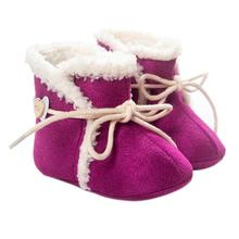 Best baby winter keep feet warm toddler girls boot first Walker Canvas+Fleece infant baby shoes conjunto inverno menina(China)