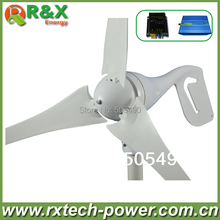 Windmill generator 400w rated, 400W wind turbine generator+wind/solar hybrid controller(LED display)+600W off grid inverter.(China)