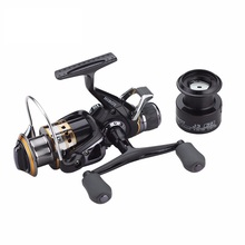 Carp Spinning Fishing Reels, Left/Right Handle Metal Spool, 9+1BB, Stainless steel Shaft, Rear Drag Wheel, 1 Spare Plastic Spool
