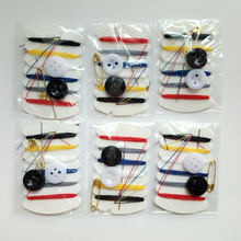 50 Sets Portable Mini Sewing Kit Needle Thread Button Pin Set Travel Household Tools Kit Hotel Hand Sewing Bags(China)