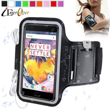 OnePlus 5 A5000 Arm Band Running Case for Oneplus 3T One Plus 5 Oneplus3 Gym Waterproof Exercise Phone PU Leather Cover+Key Slot